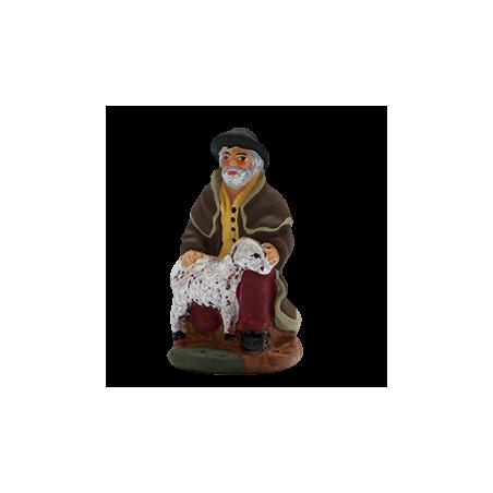 Shepherd kneeling