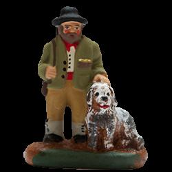Chasseur et son chien 4cm