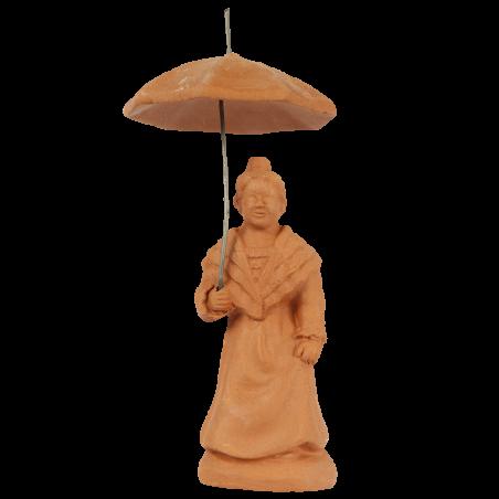 Arlésienne à l'ombrelle 7 cm à peindre