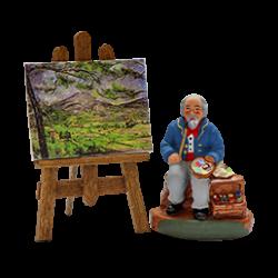 Peintre et son chevalet 4 cm