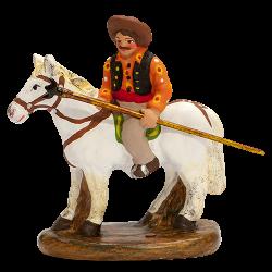 Gardian à cheval avec son trident 4 cm
