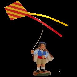 Enfant au cerf volant 7cm