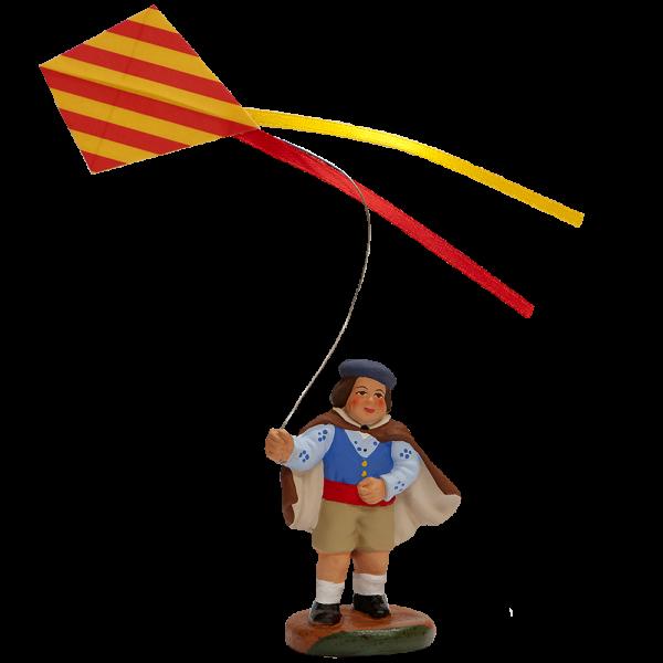 Enfant au cerf volant 7 cm