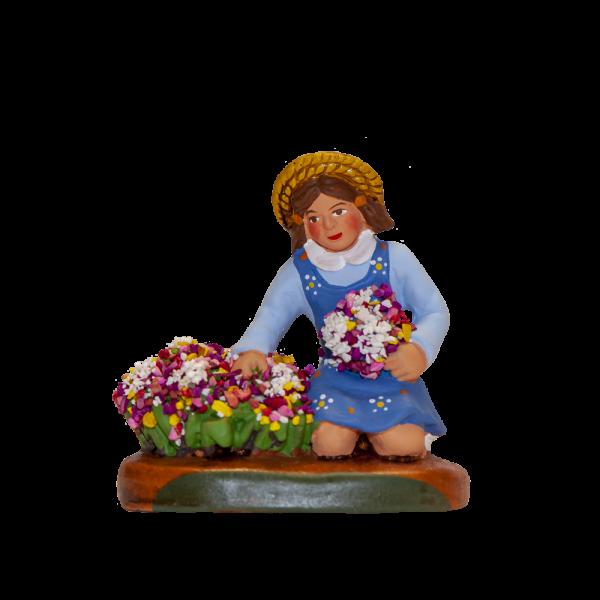 Fille aux fleurs 7 cm