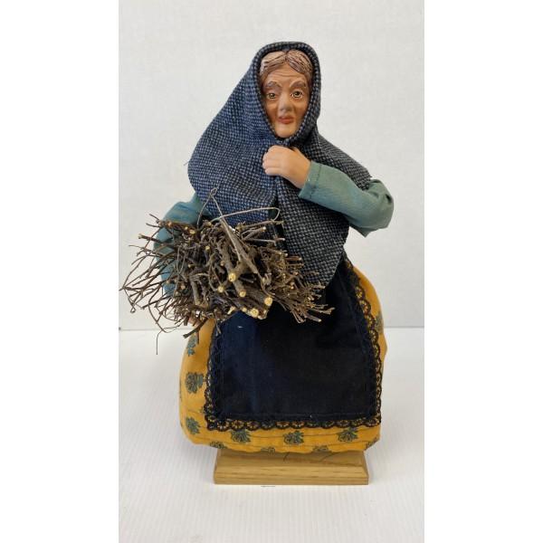 Femme au fagot -SANTON HABILLE