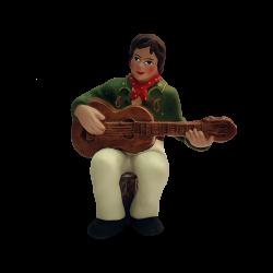 Guitariste à assoir 9 cm