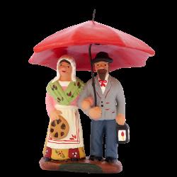 Couple au parapluie 7 cm