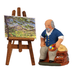 Peintre Aixois et chevalet 7 cm