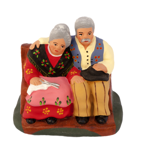 Old couple sitting (+ details,click on the magnifying glass)