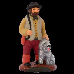 Chasseur et son chien 7 cm