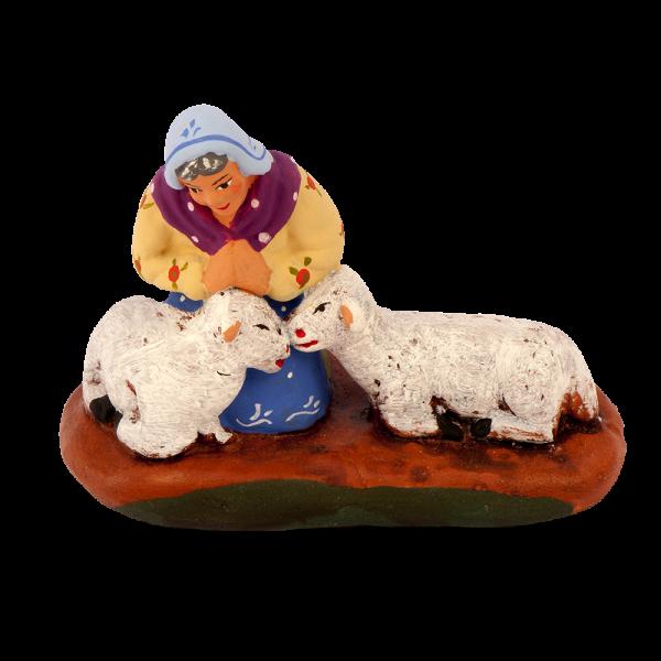 Shepherdess praying