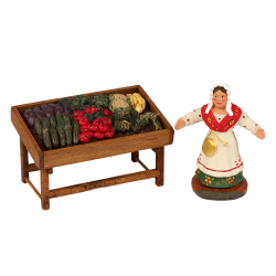 Vegetables saleswoman