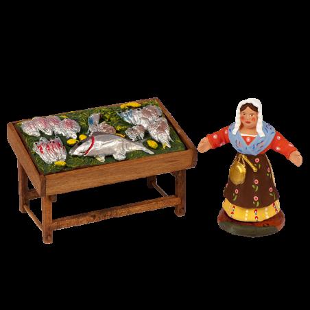 Fish saleswoman