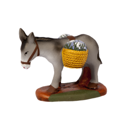 Donkey carrying lavender