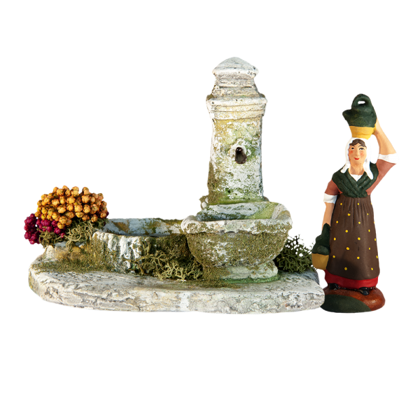 Fontaine fleurie pour 7 cm