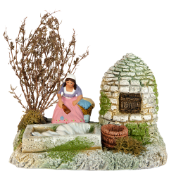 Well - dry-stone shepherd's hut -wash house