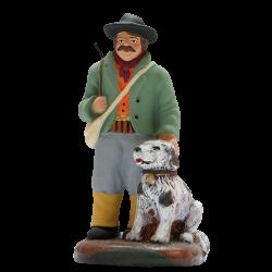 Chasseur et son chien 9 cm